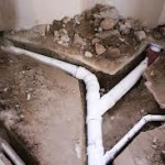 Excavation for pipe replacement